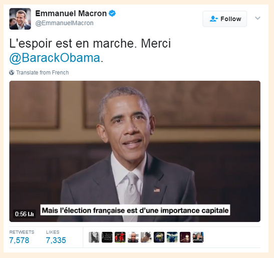 ObamaEndorsesMacronMay042017