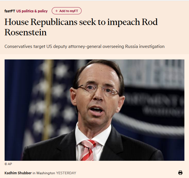 At The Financial Times: 'House Republicans seek to impeach Rod